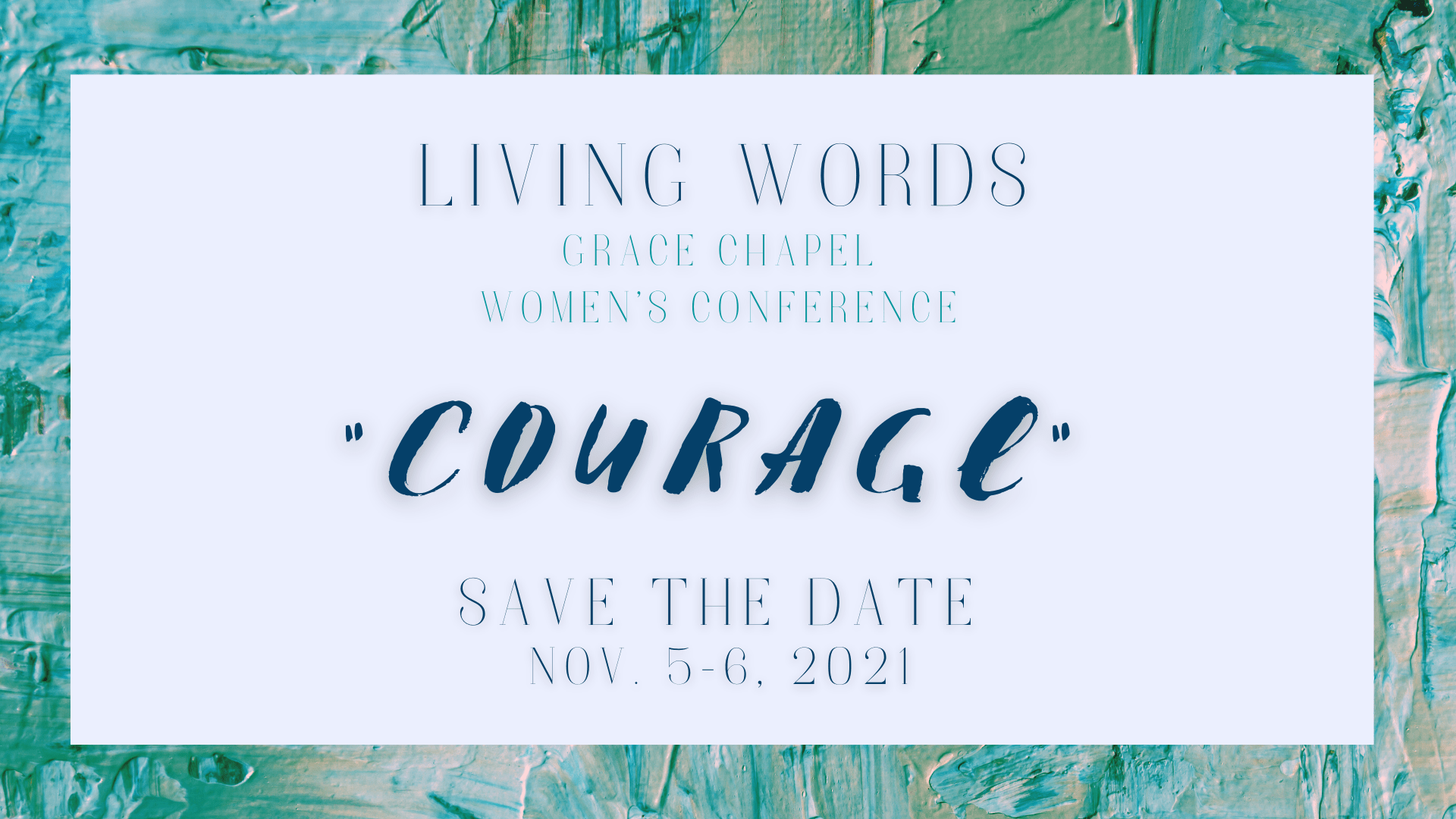 Living Words Save the Date